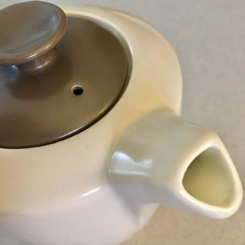 Poole Pottery Twintone | Sepia and Mushroom | Coffee Pot | 1950s 1960s